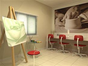 Perspectiva Ilustrada do Atelier de Pintura