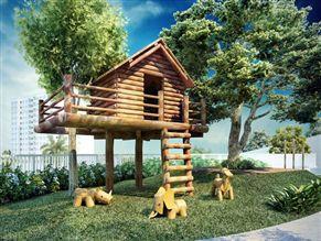 Perspectiva ilustrada da Casa do Tarzan