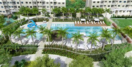 Perspectiva ilustrada da piscina