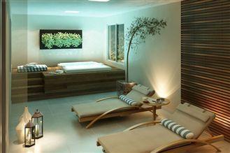 Perspectiva ilustrada do spa