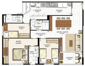 | Brisas Residencial Clube – Apartamento na  Paralela - Salvador - Bahia