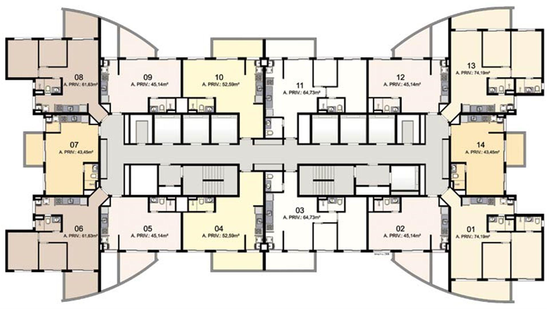 15º ao 18º pavimento | Mandarim Salvador Shopping – Apartamento  Ao lado do Salvador Shopping - Salvador - Bahia