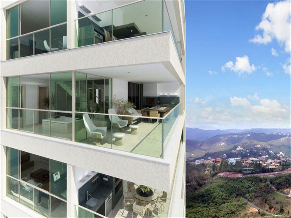Varanda   Olympus - Artemis – Apartamentona  Vila da Serra - Nova Lima - Minas Gerais