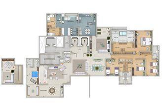 Planta tipo 360 m² | Olympus - Artemis – Apartamento na  Vila da Serra - Nova Lima - Minas Gerais