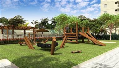 Perspectiva Ilustrada do Playground Aventura