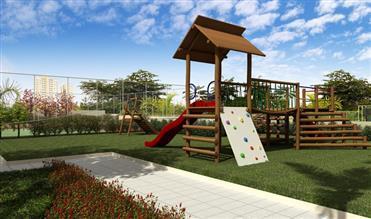 Perspectiva Ilustrada do Playground Radical
