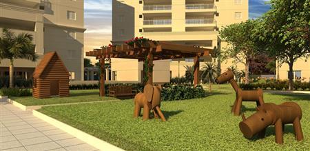 Perspectiva Ilustrada do Playground Zoo