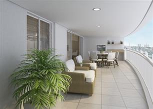 Perspectiva Ilustrada - Terraço do apartamento de 167 m²