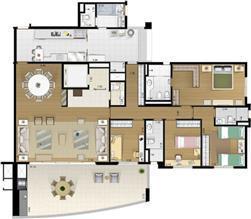Planta Tipo 208m² | Acervo – Apartamento no  Alto de Pinheiros - São Paulo - São Paulo