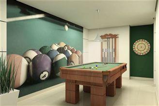 Perspectiva ilustrada salão de jogos