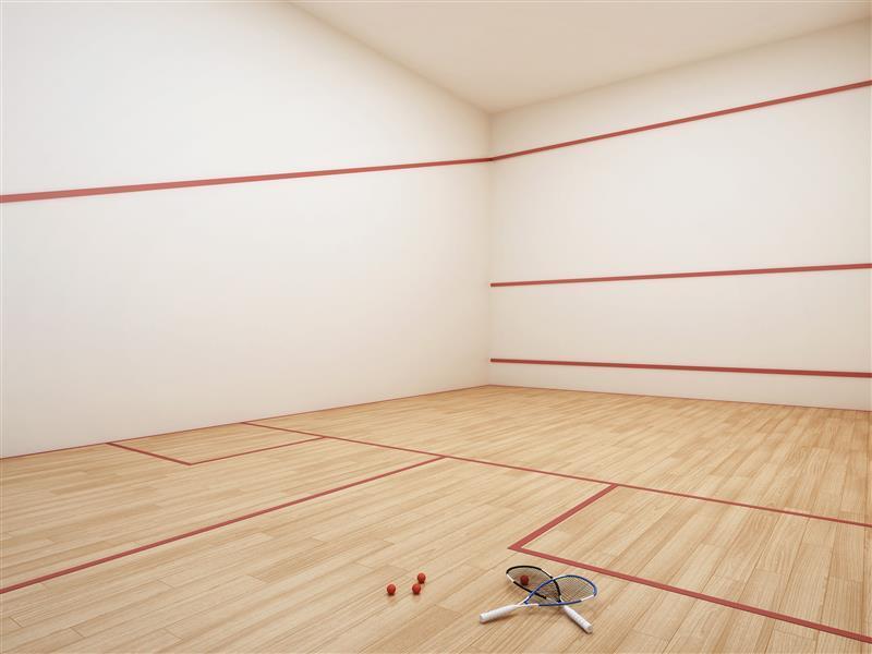 Ilustração Artística da Quadra de Squash