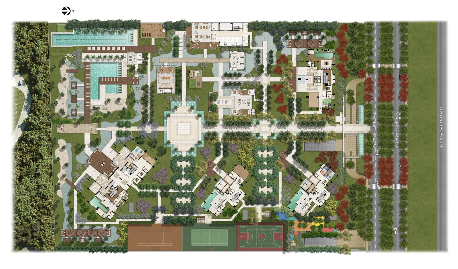 Masterplan | Riserva Golf Vista Mare Residenziale – Apartamento na  Barra da Tijuca - Rio de Janeiro - Rio de Janeiro