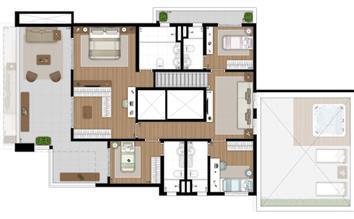 SKR Campo Belo Planta Duplex Superior rotacionada | Tom 1102 – Apartamento no  Campo Belo - São Paulo - São Paulo