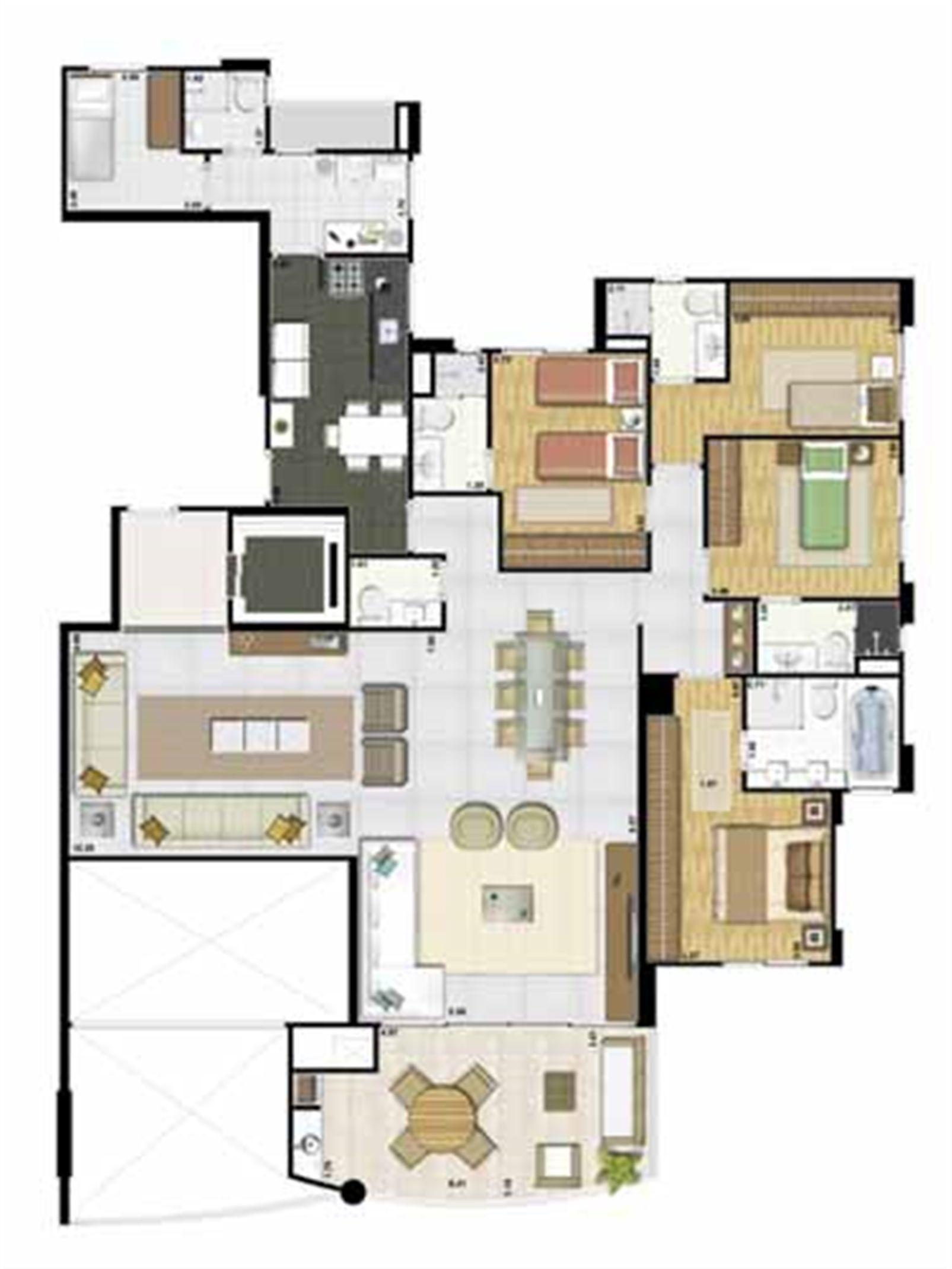 Apartamento de 184 m² - Andar par | Reserva Grann Parc – Apartamentono  Jardim Goiás - Goiânia - Goiás