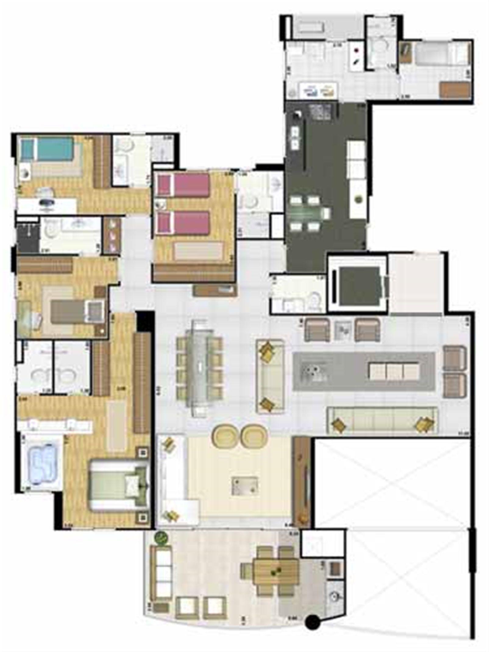 Apartamento de 213 m² - Andar par | Reserva Grann Parc – Apartamentono  Jardim Goiás - Goiânia - Goiás