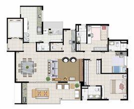 3 suítes living ampliado - 142 m² | Farol da Ilha – Apartamento na  Ponta D'areia - São Luís - Maranhão