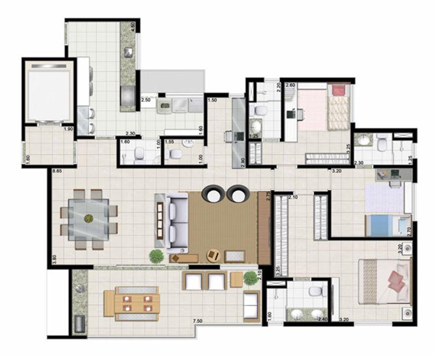 3 suítes living ampliado - 142 m² | Farol da Ilha – Apartamentona  Ponta D'areia - São Luís - Maranhão