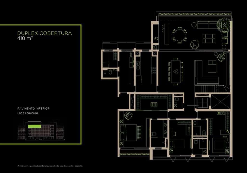 Duplex Cobertura 418m²   Inferior | Arruda 168 – Apartamentono  Alto de Pinheiros - São Paulo - São Paulo