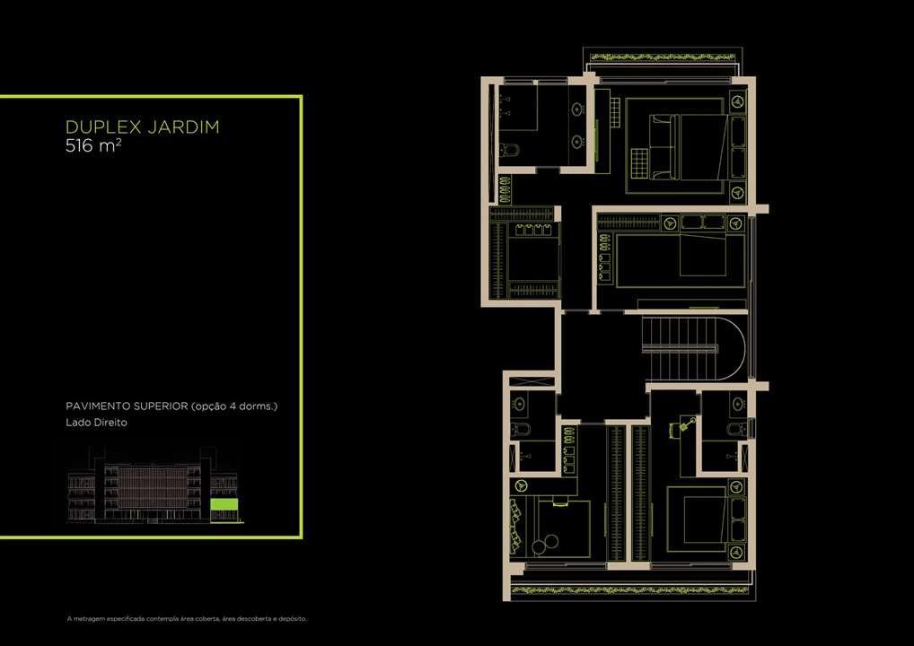 Duplex Jardim 516m²   Opção 4 Dorms. | Arruda 168 – Apartamentono  Alto de Pinheiros - São Paulo - São Paulo