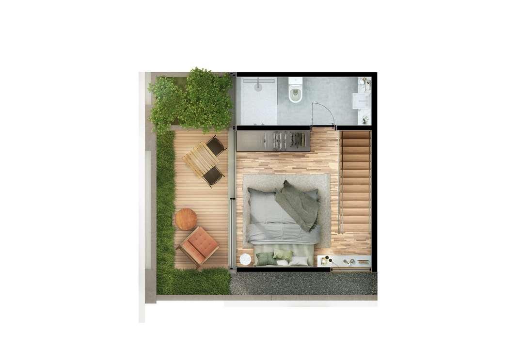 Cobertura Duplex 2 Suítes  81m² Pavimento Superior | Nomad – Apartamentoem  Moema - São Paulo - São Paulo