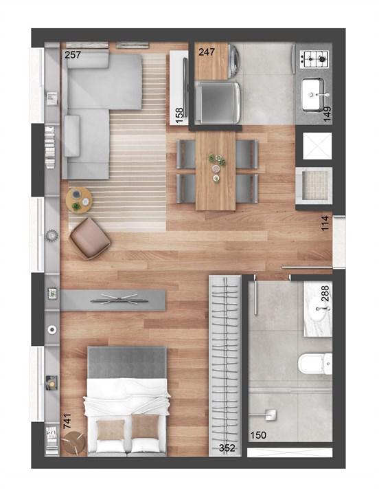 Studio 43m² | NY, 205 – Apartamentono  Auxiliadora - Porto Alegre - Rio Grande do Sul