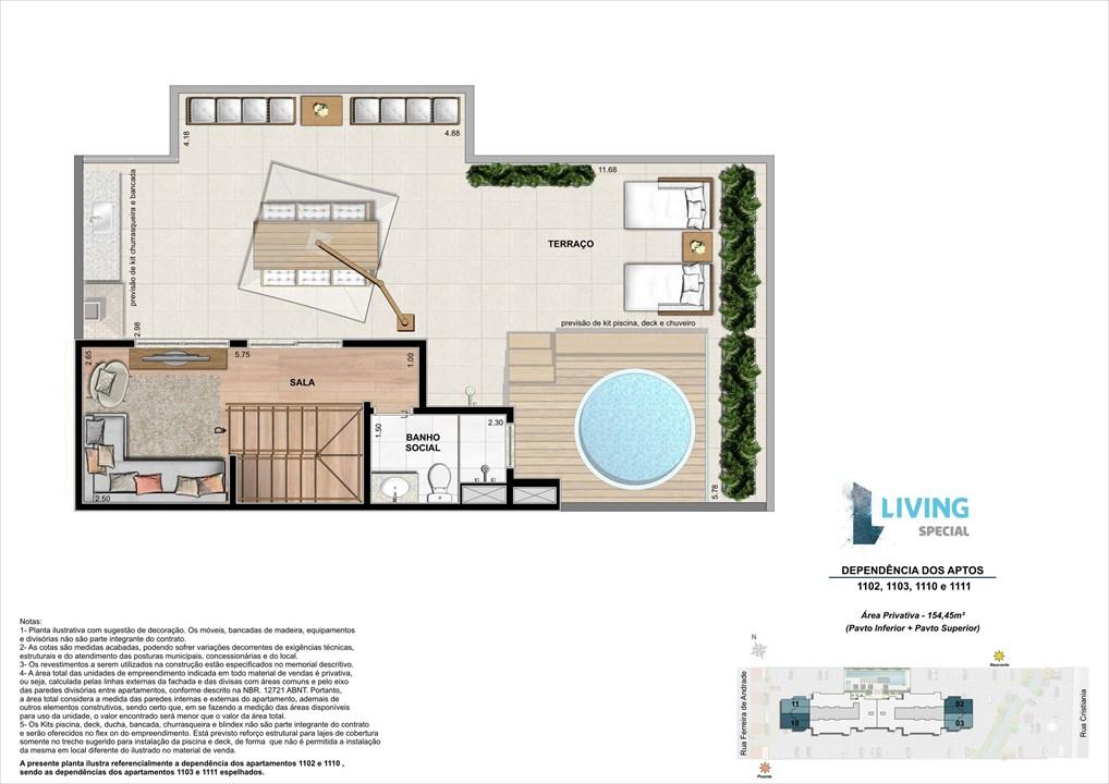Cobertura Duplex de 154,45 m² | Living Special – Apartamentono  Grande Méier - Rio de Janeiro - Rio de Janeiro