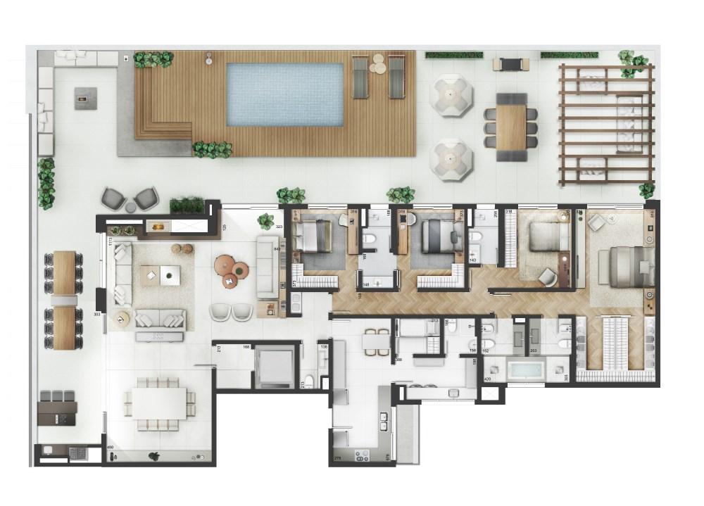 Yoo Moinhos de 4 dormitórios em Moinhos De Vento, Porto Alegre - RS