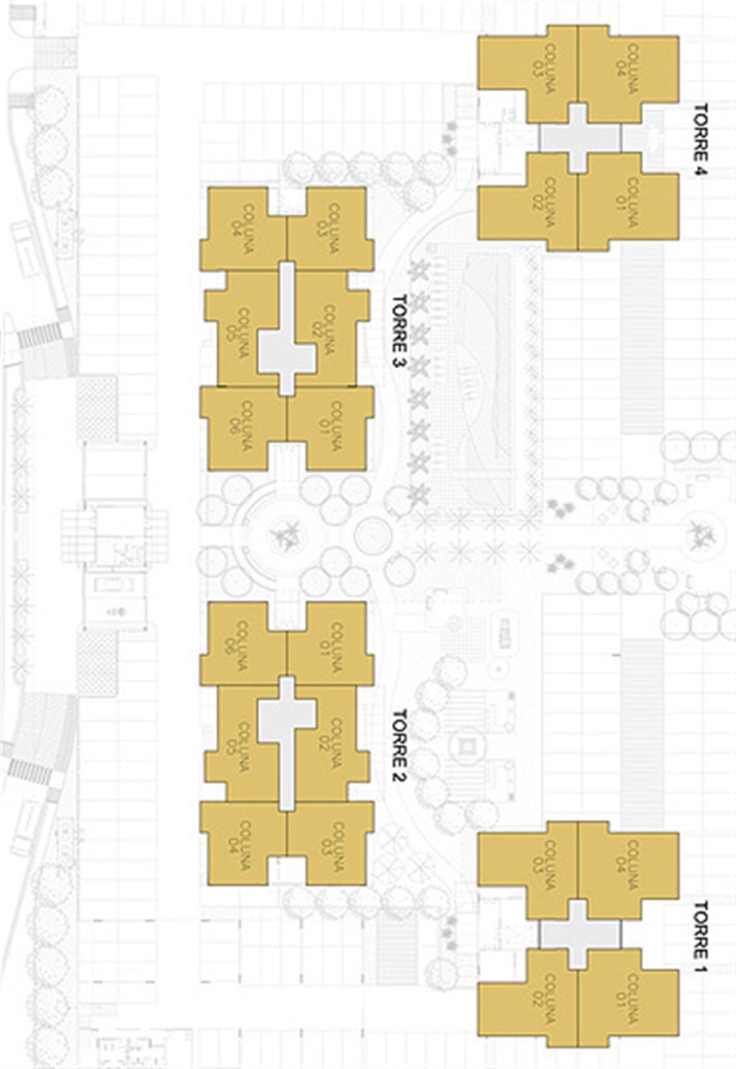 Planta Ilustrada da Posição das Unidades   Reserva Verde Residencial Park – Apartamento em  Laranjeiras - Serra - Espírito Santo