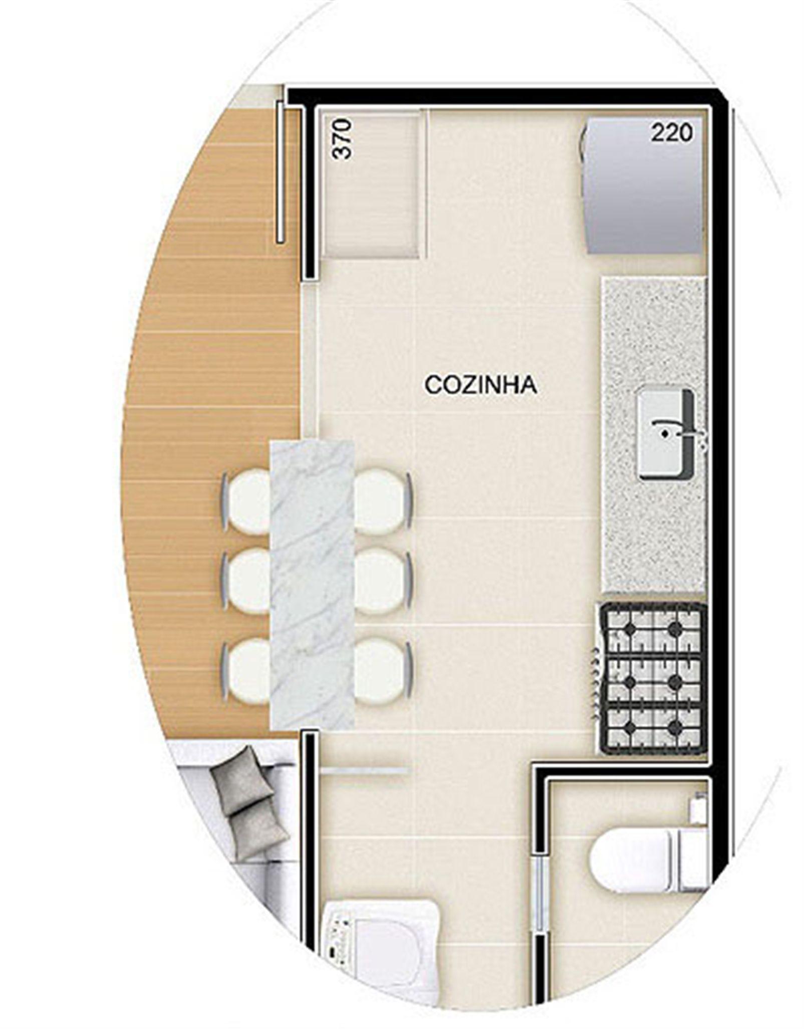 Torres 2 e 3 - 3 Quartos - 85 m² - Planta tipo   Reserva Verde Residencial Park – Apartamentoem  Laranjeiras - Serra - Espírito Santo