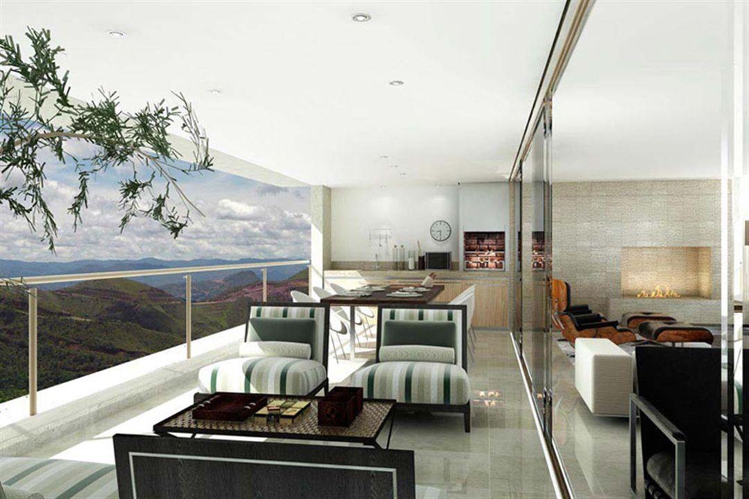 Varanda | Olympus - Apolo e Athena – Apartamentona  Vila da Serra - Nova Lima - Minas Gerais