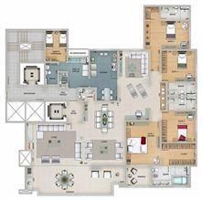 Edifício Apolo - Planta do 17º ao 22º pavimento | Olympus - Apolo e Athena – Apartamento na  Vila da Serra - Nova Lima - Minas Gerais