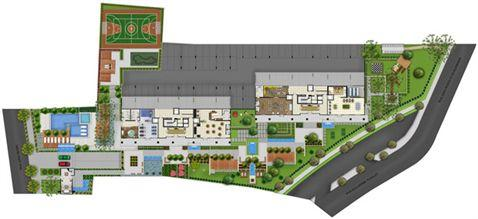 Perspectiva Ilustrada da Implantação   Acqua Verde Family Space – Apartamento no  Água Verde - Curitiba - Paraná