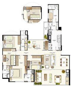 Planta 4 quartos - 148,56 m² | Provence Horto – Apartamento no  Horto Florestal - Salvador - Bahia