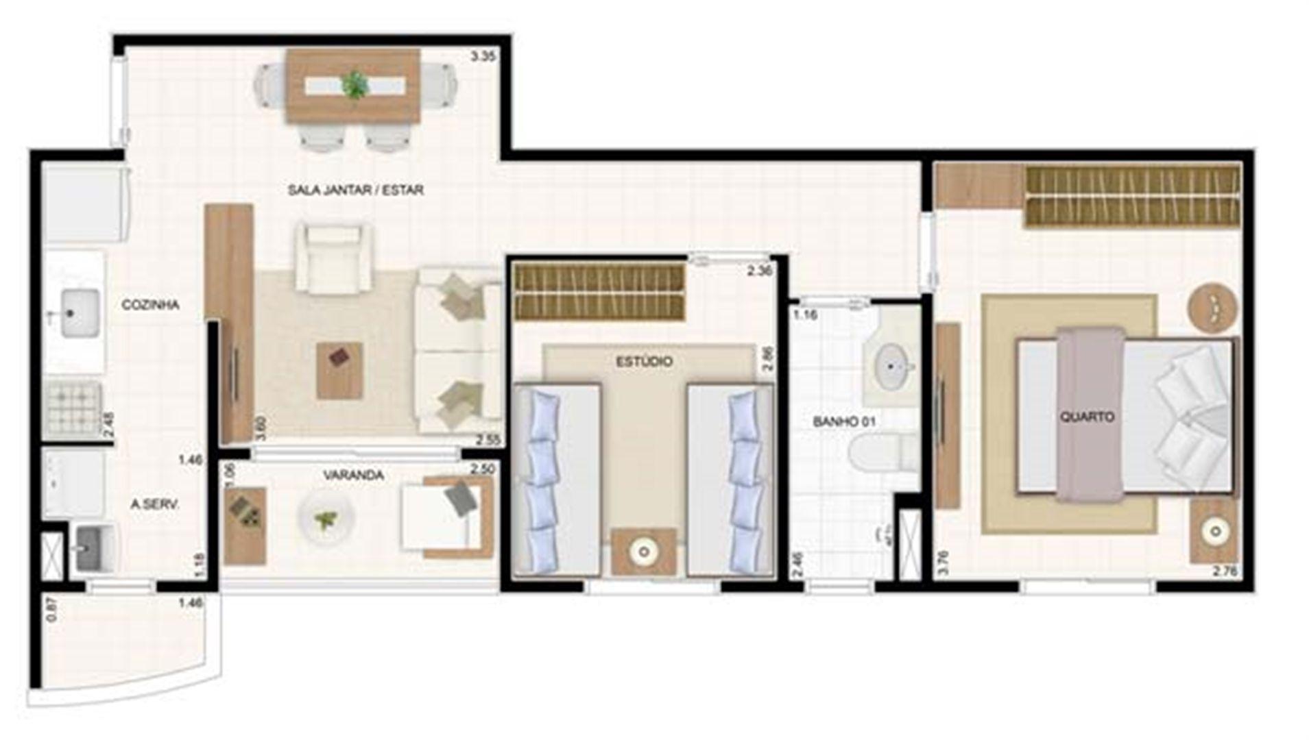 2 dorms 49,61m² 2 dorms 55m² | Vita 2 Residencial Clube – Apartamento no  Pitimbu - Natal - Rio Grande do Norte