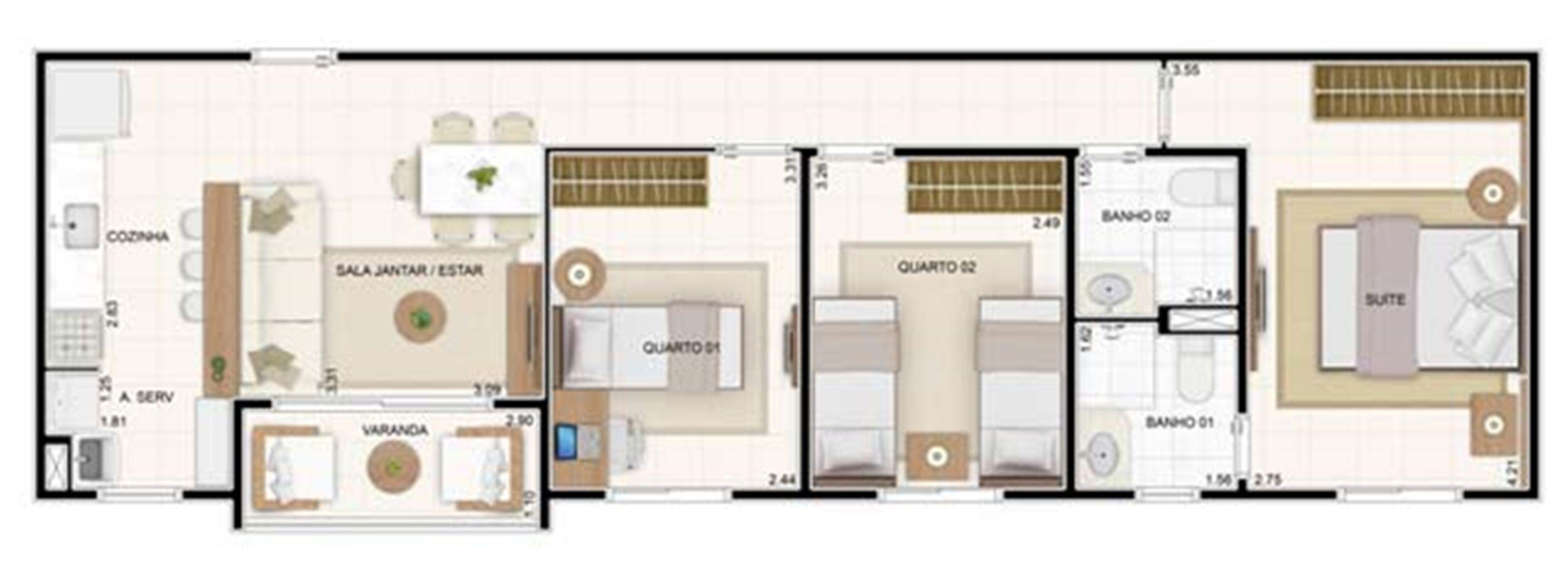 3 dorms 67,35m² | Vita 2 Residencial Clube – Apartamento no  Pitimbu - Natal - Rio Grande do Norte