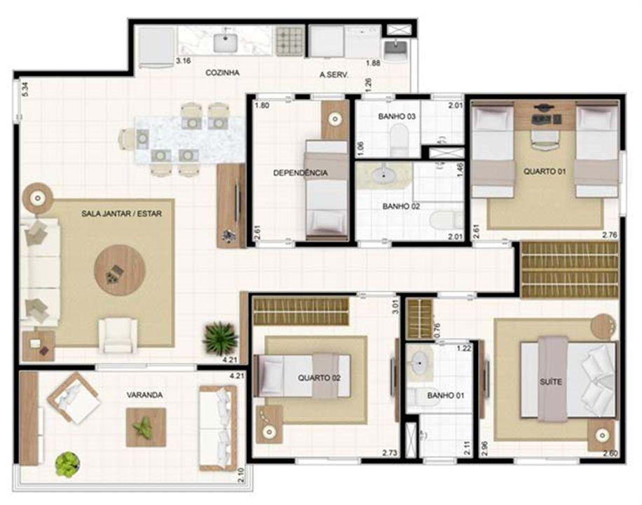 3 dorms 89,19m² | Vita 2 Residencial Clube – Apartamentono  Pitimbu - Natal - Rio Grande do Norte
