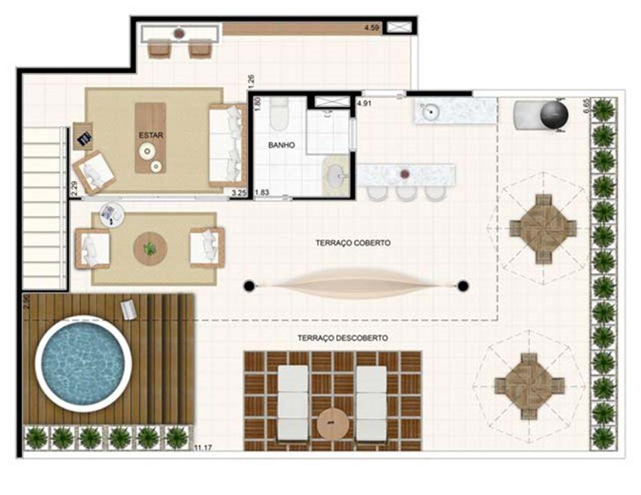 Duplex Superior 176,57m² | Vita 2 Residencial Clube – Apartamentono  Pitimbu - Natal - Rio Grande do Norte