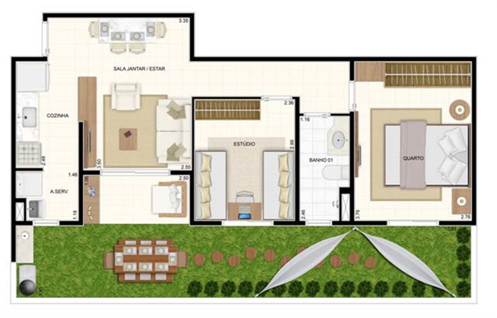 Giardino 2 dorms 70m² | Vita 2 Residencial Clube – Apartamento no  Pitimbu - Natal - Rio Grande do Norte