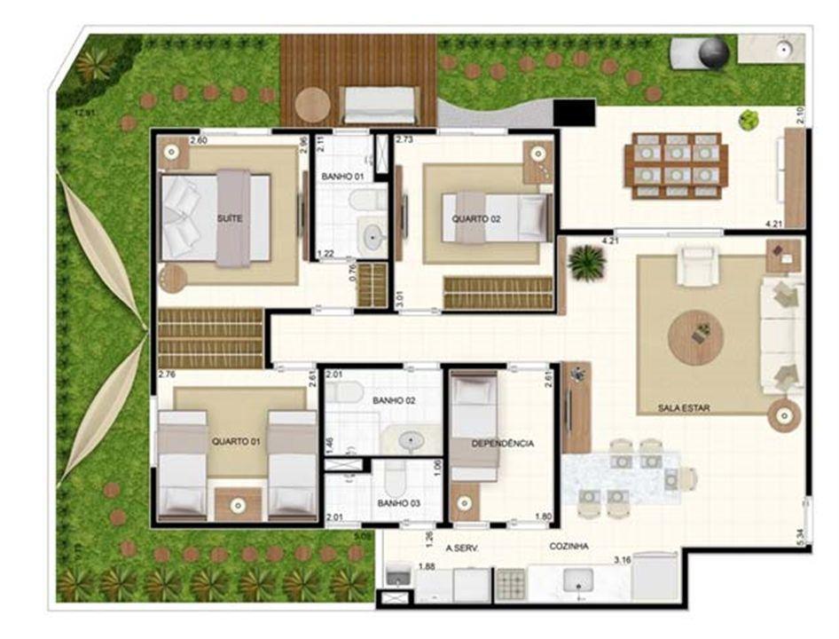 Giardino 3 dorms 129,10m² | Vita 2 Residencial Clube – Apartamentono  Pitimbu - Natal - Rio Grande do Norte