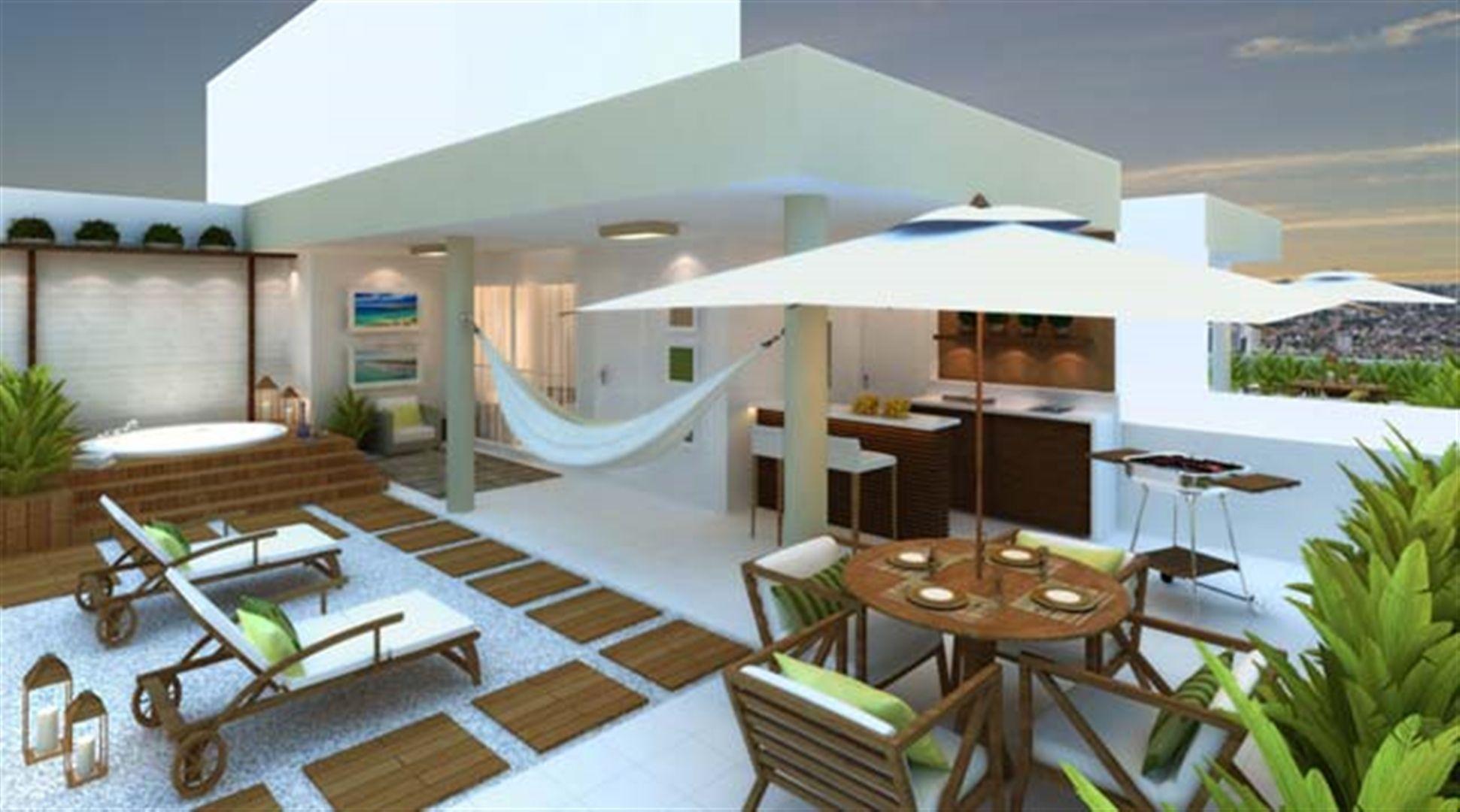 Varanda | Vita 2 Residencial Clube – Apartamentono  Pitimbu - Natal - Rio Grande do Norte