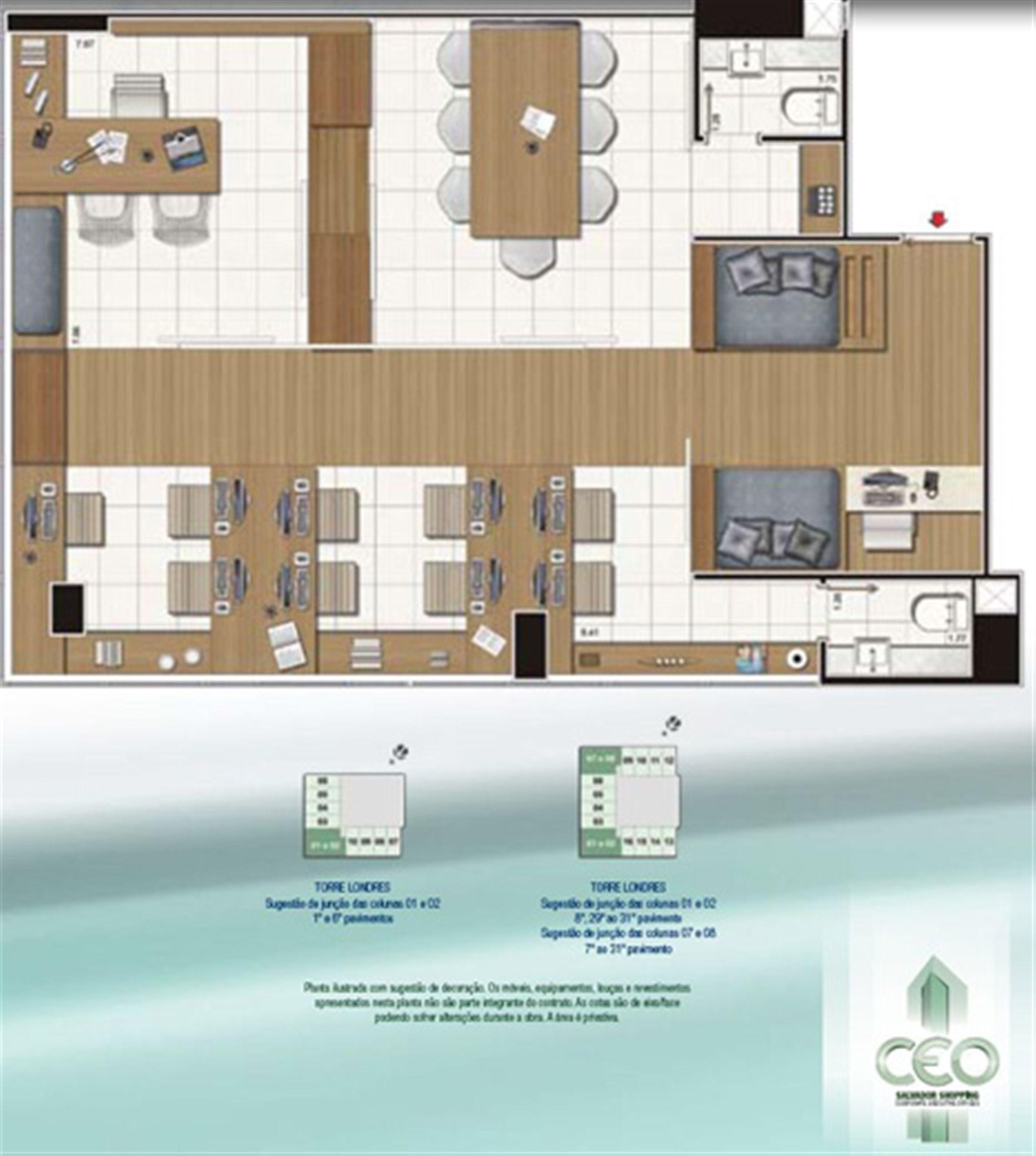 Espaço Empresarial 82,35 m² | CEO Salvador Shopping – Salas Comerciais  Ao lado do Salvador Shopping - Salvador - Bahia