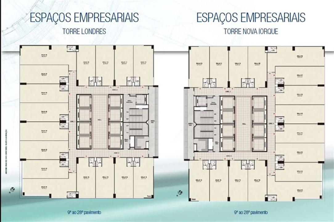 Plantas Torres | CEO Salvador Shopping – Salas Comerciais  Ao lado do Salvador Shopping - Salvador - Bahia