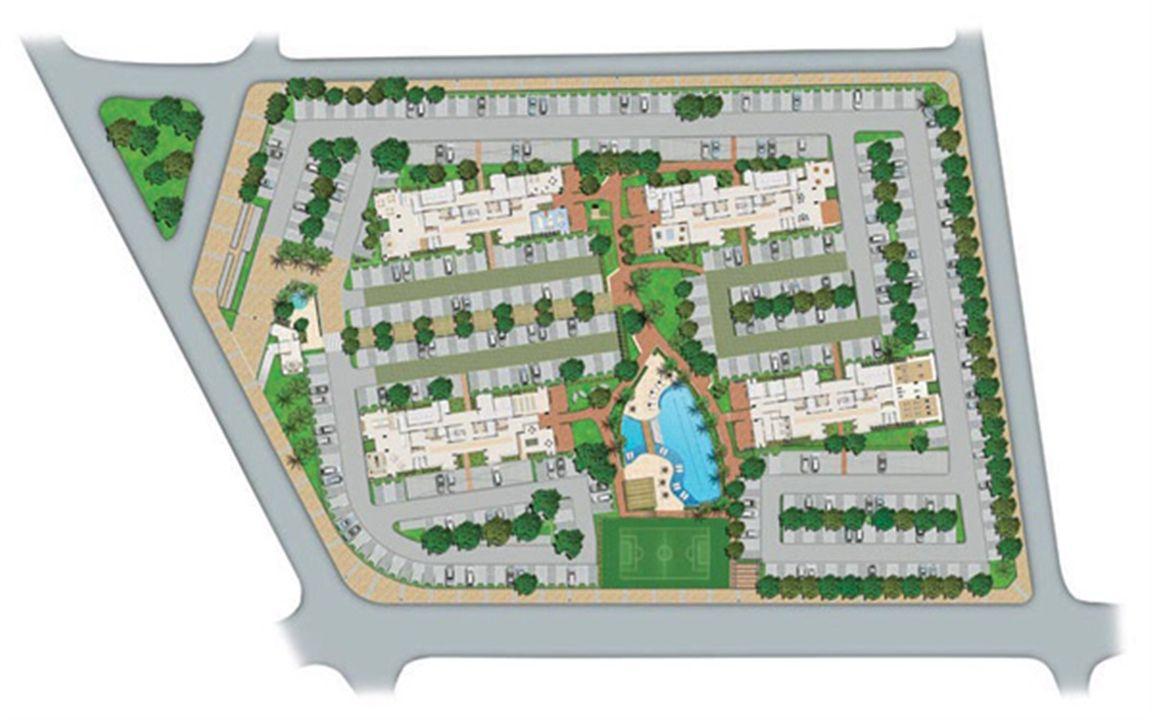 Perspectiva Ilustrada da Implantação   Vita Residencial Clube Recife – Apartamentoem  Imbiribeira - Recife - Pernambuco