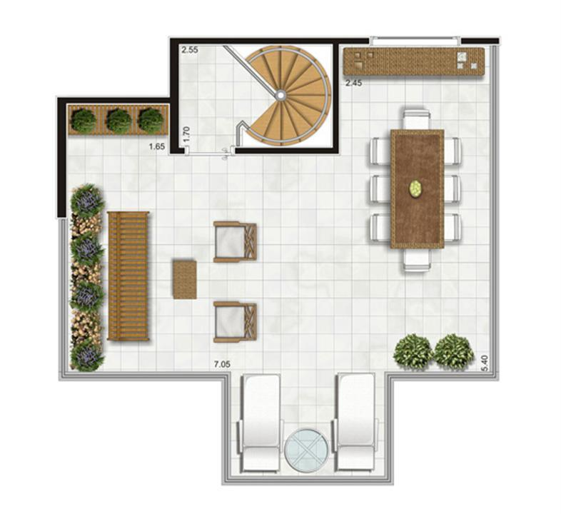 Planta Duplex Superior - 90,5m² Privativos | Andalus by Cyrela – Apartamentono  Morumbi - São Paulo - São Paulo