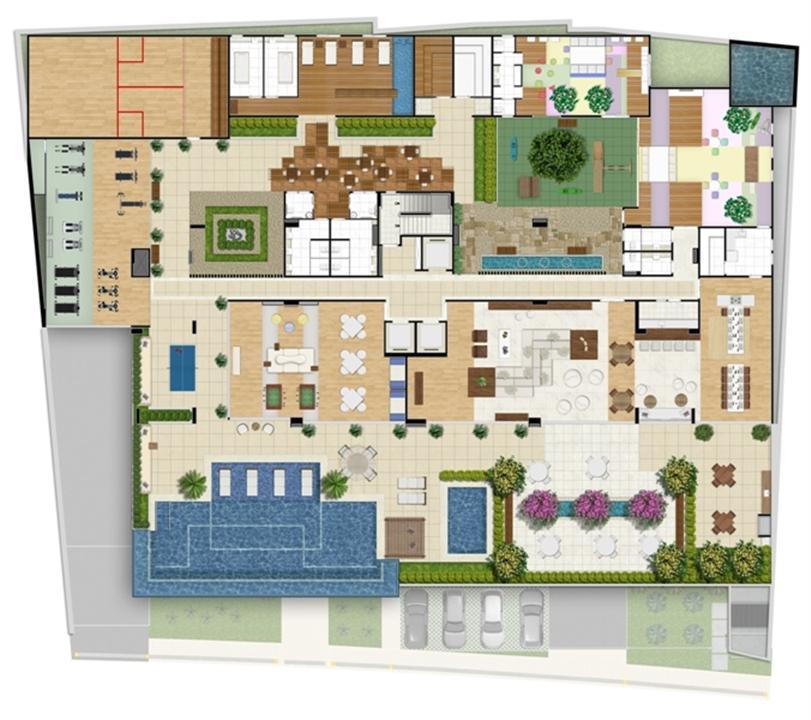 Perspectiva ilustrada da implantação | Infinity Areia Preta – Apartamentona  Areia Preta - Natal - Rio Grande do Norte