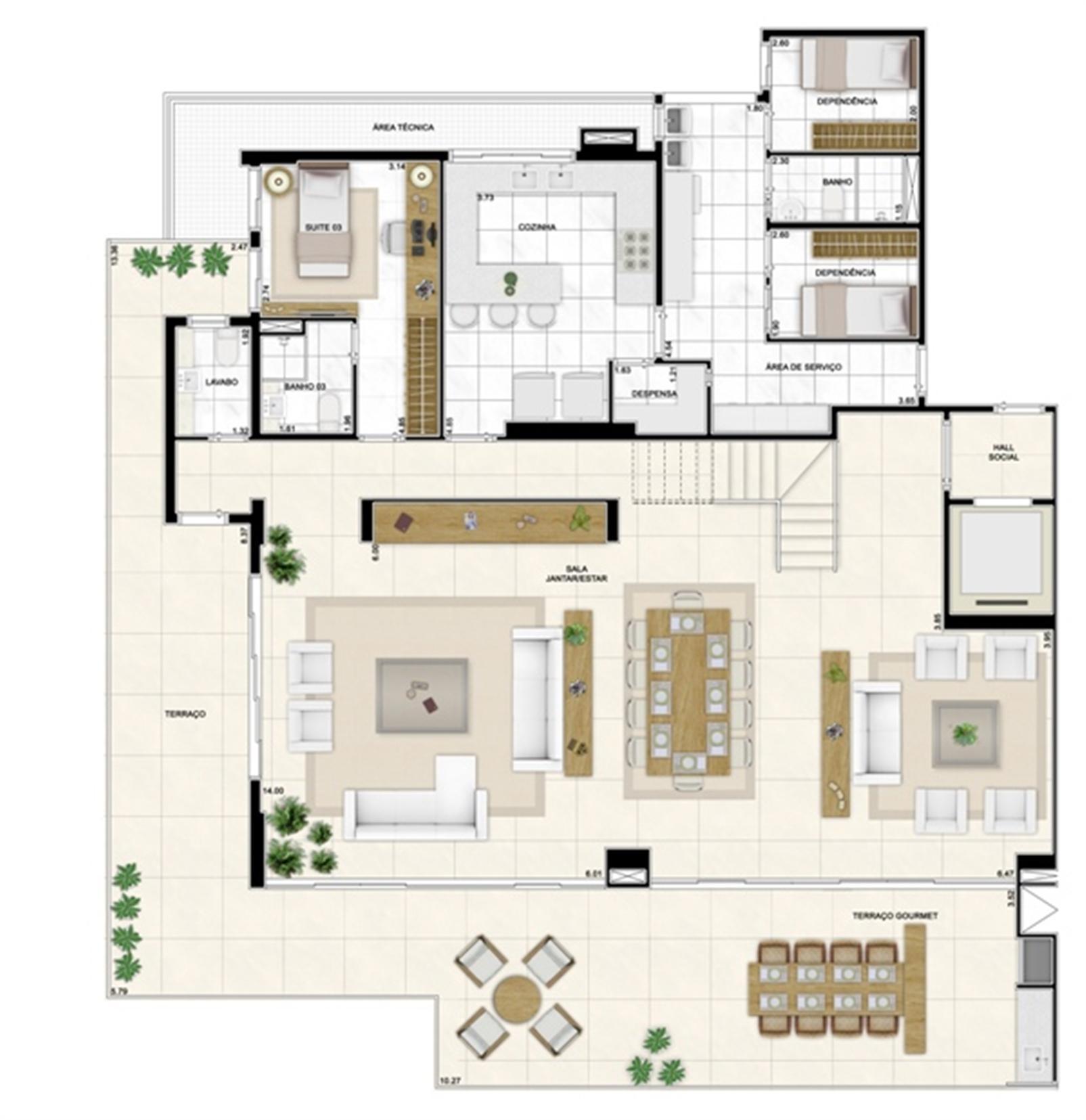 Planta Duplex Inferior 406m² | Infinity Areia Preta – Apartamentona  Areia Preta - Natal - Rio Grande do Norte