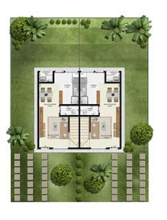 Planta 2 quartos - Térreo - 55 m² - Casa Dupla | Casas do Bosque – Casa no  Cají - Lauro de Freitas - Bahia