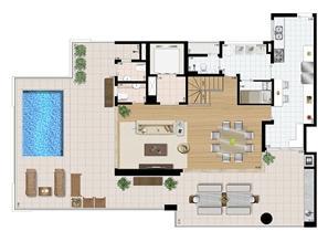 Cobertura duplex (piso superior) 4 suítes 321 m² | Praça das Águas – Apartamento no  Tatuapé - São Paulo - São Paulo
