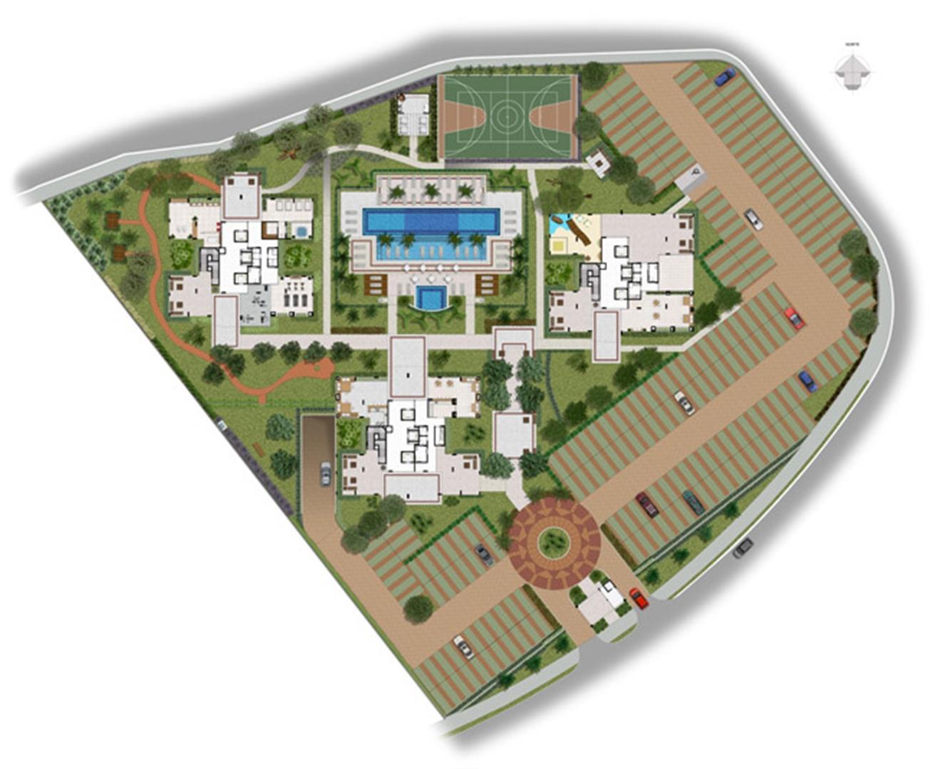 Implantação   Jardim de Andaluzia – Apartamento em  Altos do Calhau - São Luís - Maranhão