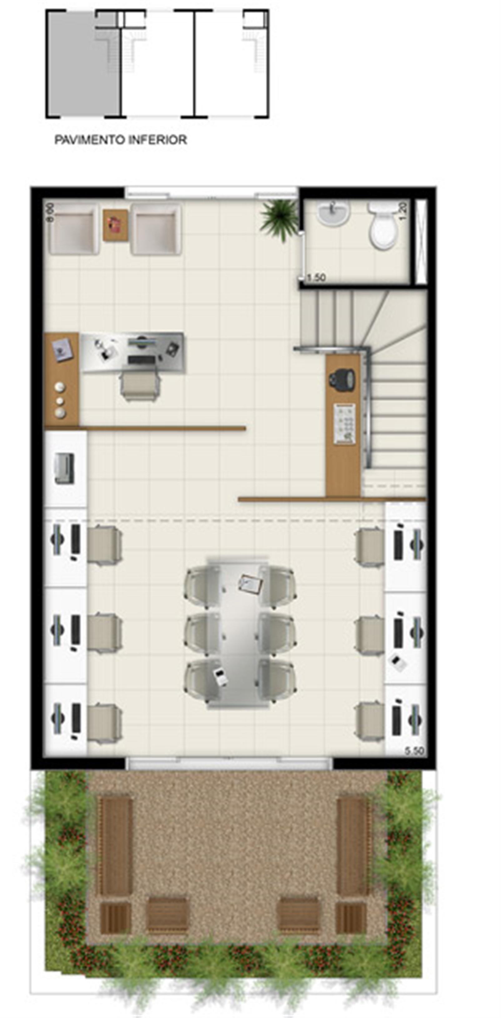 Duplex Inferior - Área total 84,50 m² | Pátio Jardins – Salas Comerciaisem  Altos do Calhau - São Luís - Maranhão